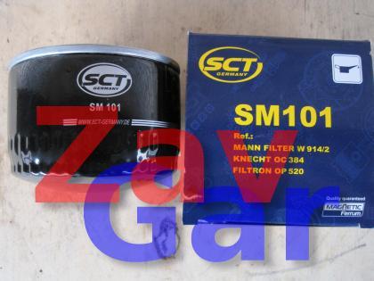 Фильтр масляный ВАЗ-2105-99, Газель дв.406, УАЗ; SCT SM 101, 2105-1012005-20 69мм